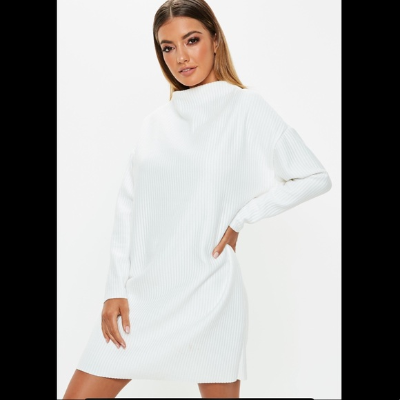 1f28a22ef7 MISSGUIDED OVERSIZED RIBBED SWEATER DRESS